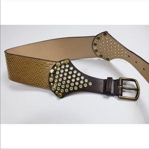 Accessories - Snakeprint belt with gold detail